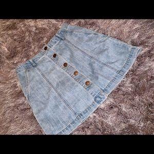 Forever 21 button down denim skirt